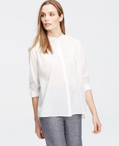 Image of Petite Cotton Trapeze Shirt