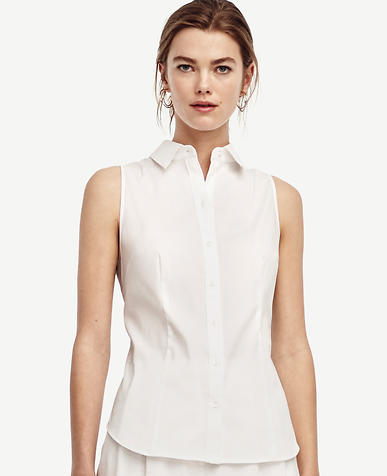 Image of Tall Sleeveless Perfect Shirt
