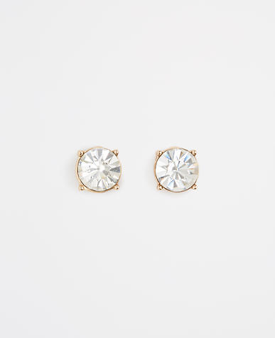 Image of Round Crystal Stud Earrings