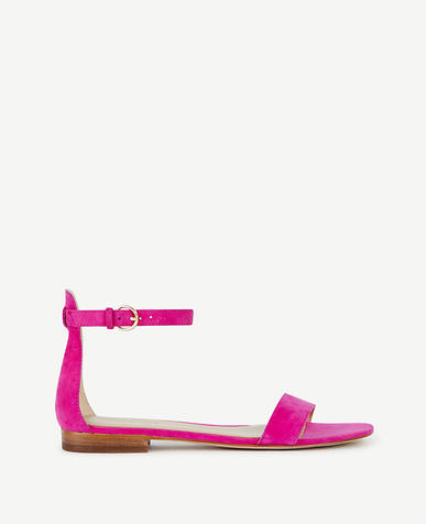 Image of Brinley Suede Flat Sandals