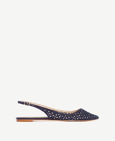 Image of Marcy Lace Slingback Flats