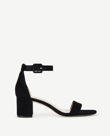 Image of May Suede Block Heel Sandals