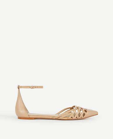 Image of Carys Strappy Leather Flats
