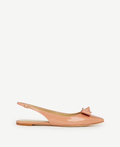 Image of Bristol Bow Patent Leather Slingback Flats