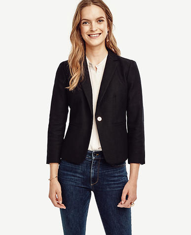 Image of Textured Single Button Blazer