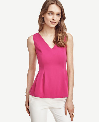 Image of Crepe Peplum Top