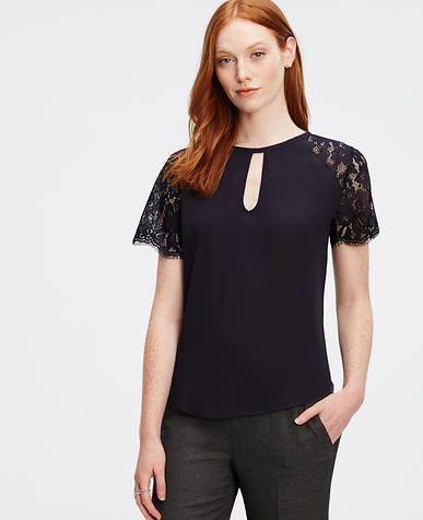 Image of Lace Sleeve Top