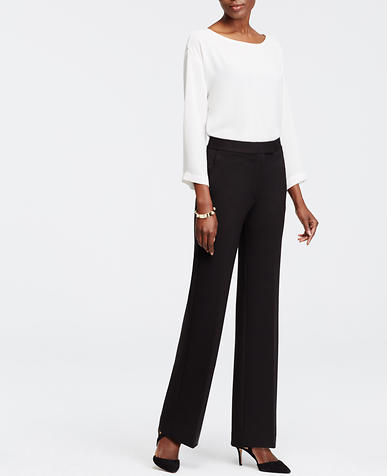 Image of Petite Ponte High Waist Flare Trousers