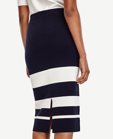 Image of Petite Stripe Sweater Pencil Skirt