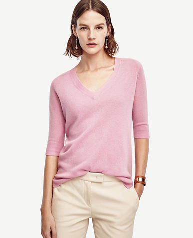 Image of Short Sleeve Cashmere Sweater