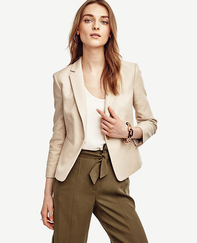 Image of Tall Textured Single Button Blazer