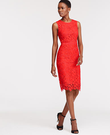 Image of Floral Lace Sheath Dress