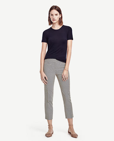 Image of Petite Devin Jacquard Cropped Pants