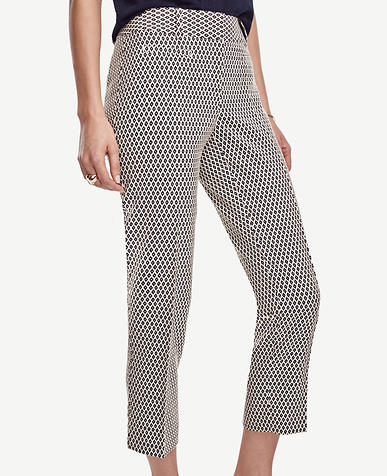Image of Petite Kate Jacquard Cropped Pants