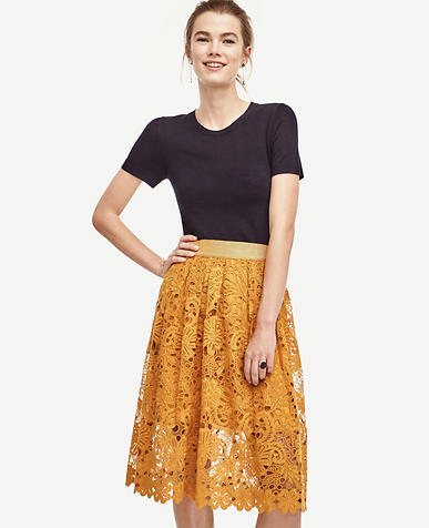 Image of Floral Lace Skirt