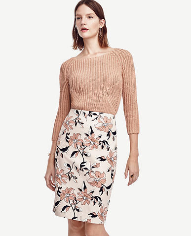 Image of Hibiscus Pencil Skirt
