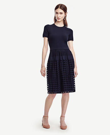 Image of Petite Eyelet Sweater Dress