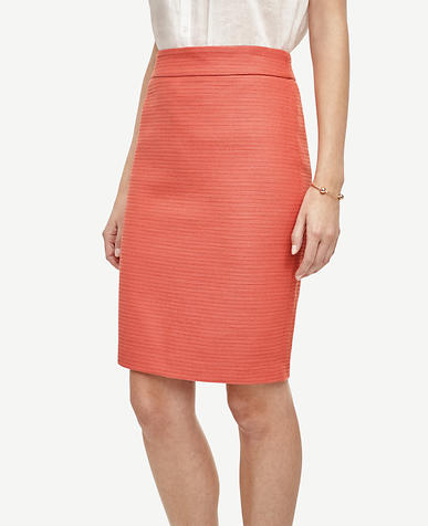 Image of Twill Pencil Skirt