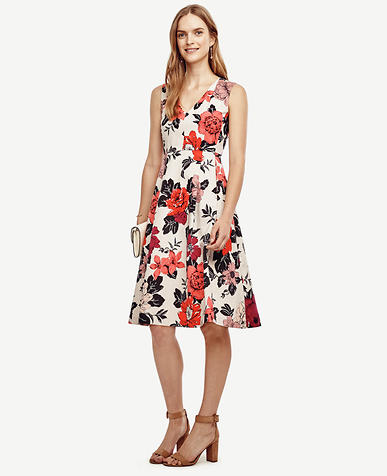 Image of Sundrenched Floral Flare Dress