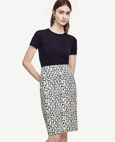 Image of Stonework Pencil Skirt