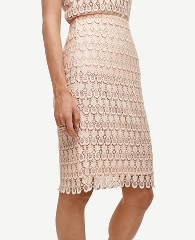 Image of Curvy Pineapple Lace Pencil Skirt