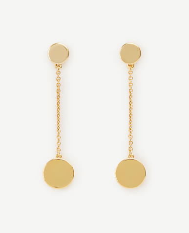 Image of Disc Linear Drop Earrings