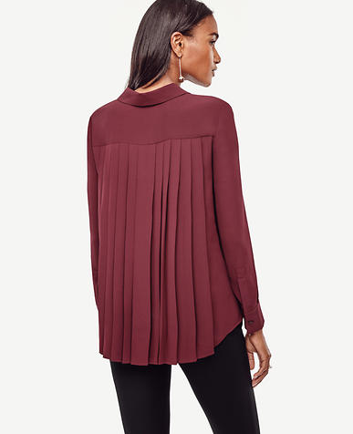 Image of Back Pleat Blouse