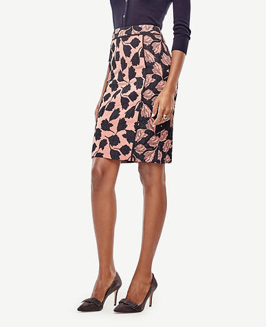 Image of Tulip Jacquard Pencil Skirt