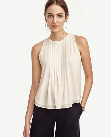 Image of Pintucked Keyhole Top