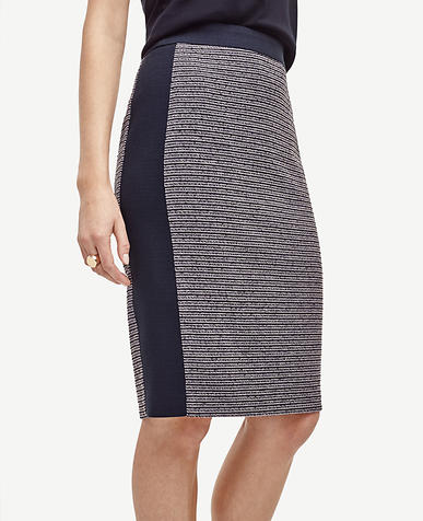 Image of Petite Tweed Pencil Skirt