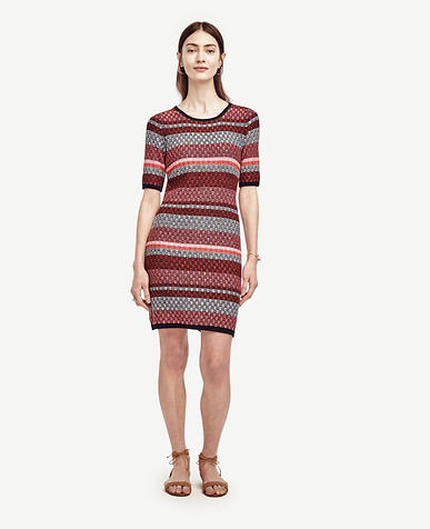 Image of Striped Sweater Dress