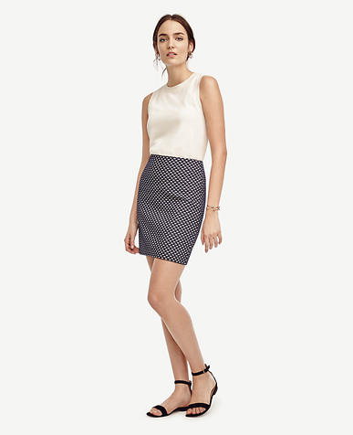 Image of Deco Jacquard Shift Skirt