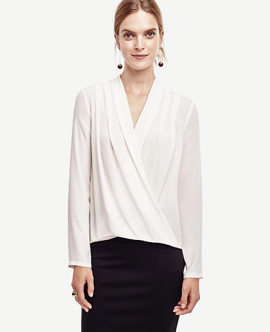 Image of Silky Wrap Blouse