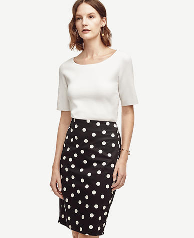 Image of Polka Dot Pencil Skirt