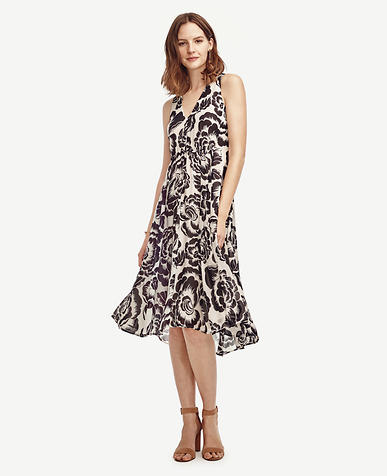 Image of Floral Chiffon Midi Dress
