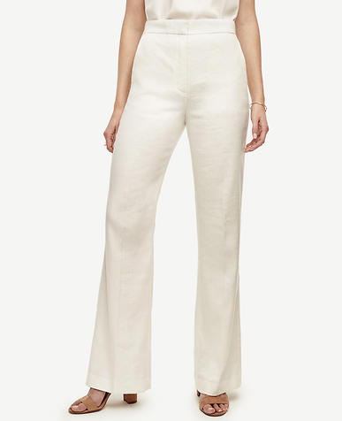 Image of Petite Linen Blend Flare Pants