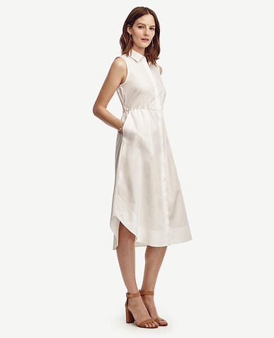 Image of Eyelet Back Midi Shirtdress