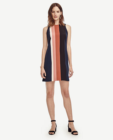 Image of Striped Shift Dress