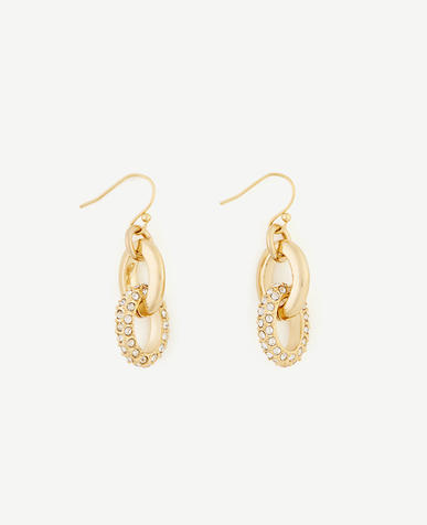 Image of Pave Link Drop Earrings