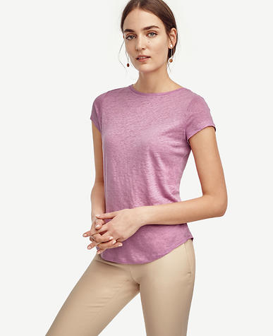 Image of Linen Boatneck Tee