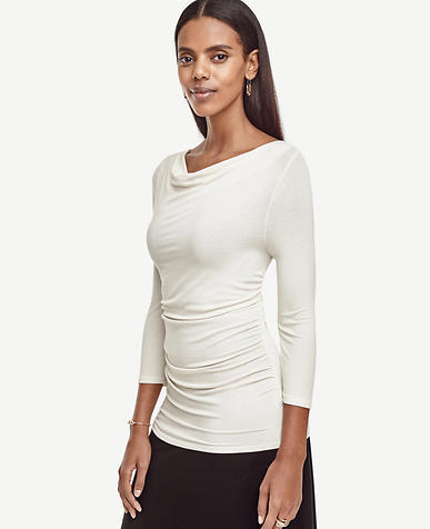 Image of Crepe Shirred Top