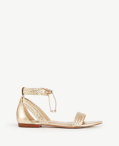 Image of Marcie Metallic Braided Leather Sandals