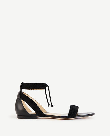 Image of Marcie Braided Suede Sandals