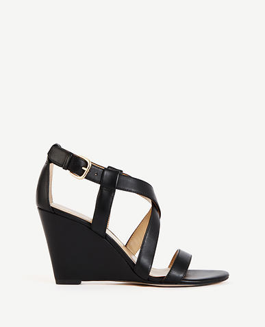 Image of Priscilla Leather Buckle Wedges