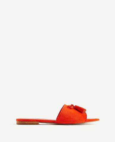 Image of Nadia Suede Tassel Slides