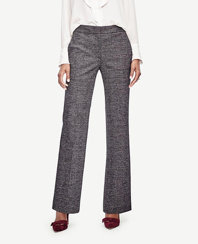 Image of Glen Plaid High Waist Flare Trousers