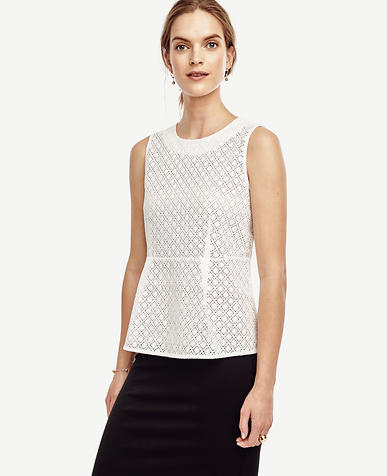 Image of Eyelet Peplum Top