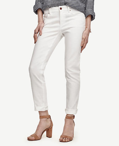 Image of Petite Relaxed Slim Denim Jeans
