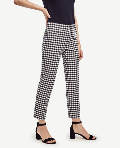 Image of Petite Devin Gingham Crop Pants
