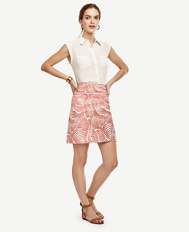 Image of Tall Wave Stretch Cotton Skirt